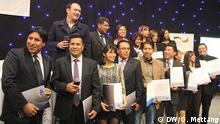 These 16 Bolivian journalists have a year of intensive on-the-job training and seminars behind them: Photo: DW/O. Mettang