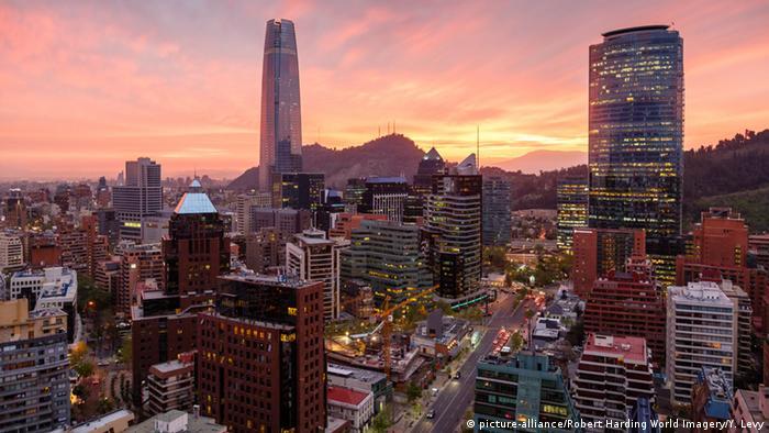 Chile Skyline von Santiago de Chile