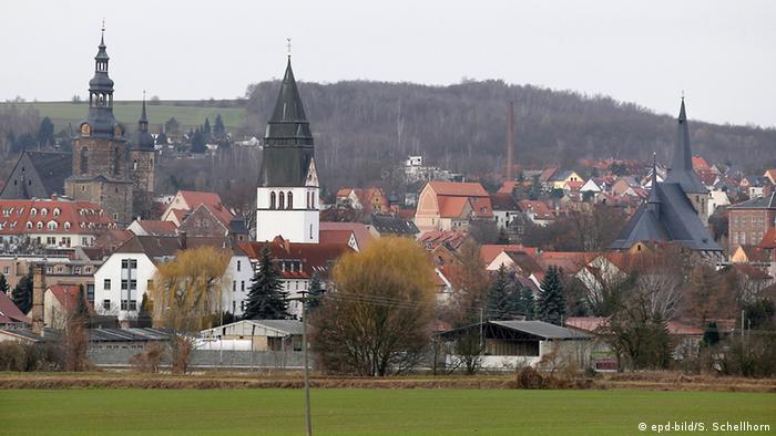 Vista da cidade de Eisleben
