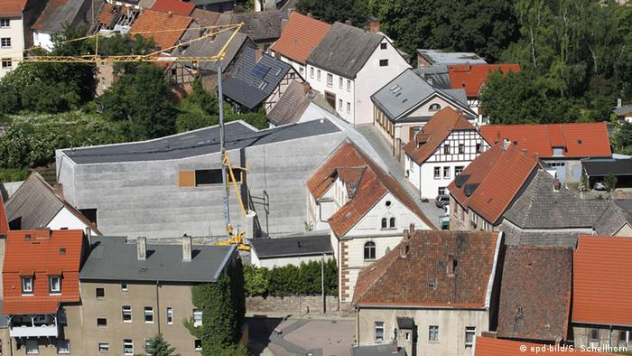 Vista de Eisleben, com o museu Lutero