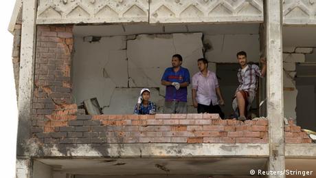 Zerstörung im Jemen nach Luftangriffen Saudi-Arabien