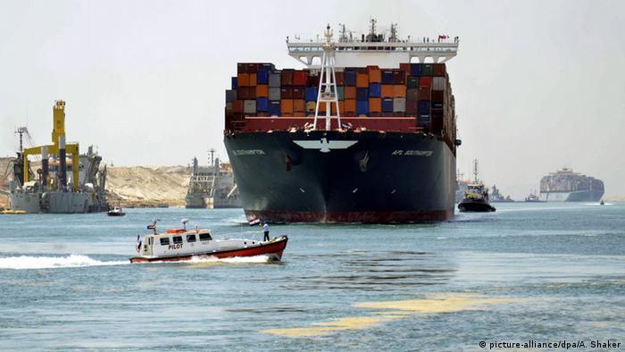 Bildergalerie Ägypten Neuer Suezkanal (picture-alliance/dpa/A. Shaker)