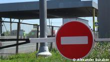 Russland Grenzkontrolle Belarus Weißrussland Zoll Baustelle Grenzschutz