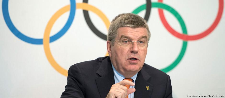 Thomas Bach, presidente do Comitê Olímpico Internacional
