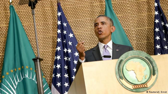 Barack Obama habla en Addis Abeba ante la Unión Africana.