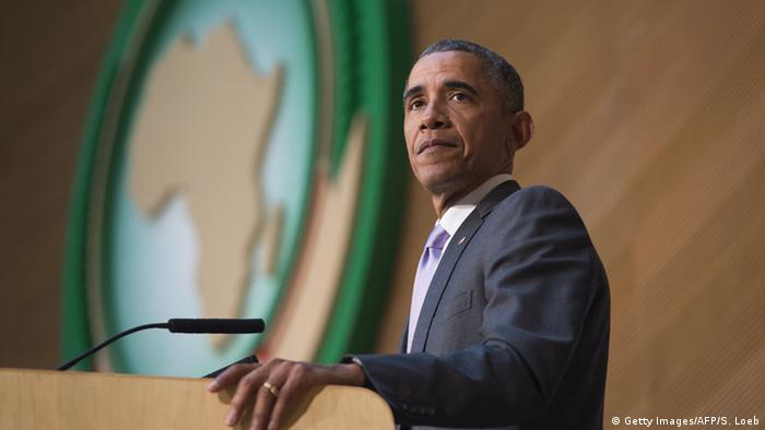 Äthiopien Addis Abeba Obama Rede Afrikanische Union (Getty Images/AFP/S. Loeb)