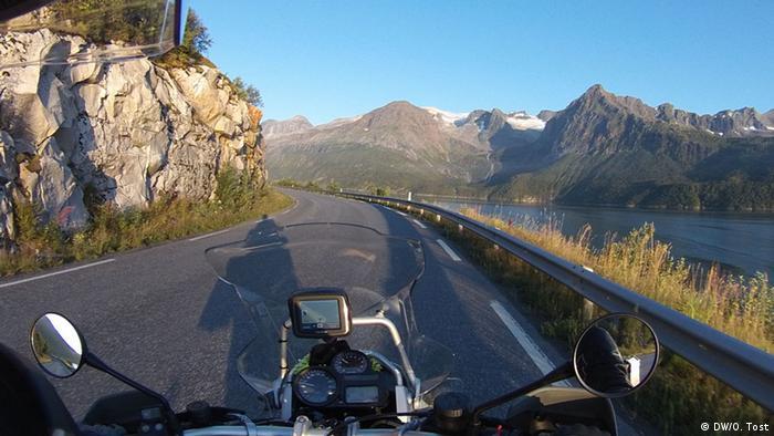 Norwegen Motorradfahrer