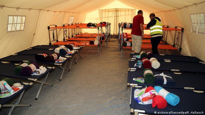 Центр приема беженцев в Дрездене
