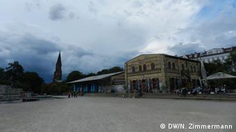 Former railway outbuildings in Görlitzer Park