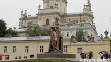 Lviv Ukraine Einweihung Denkmal Andrij Scheptyzkyj