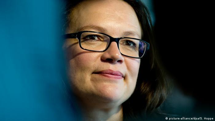 Arbeitsministerin Andrea Nahles (SPD) Foto: Sven Hoppe/dpa