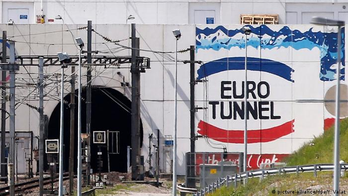 The entrance to the Channel Tunnel at Calais