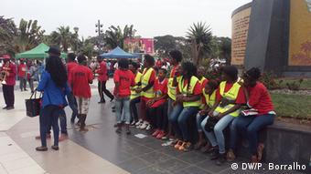 Angola MPLA-Anhänger in Largo da Independência in Luanda