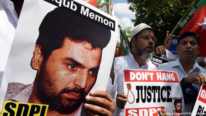Indien Aktivisten Protest Todesstrafe Yakub Memon (Getty Images/AFP/M. Sharma)