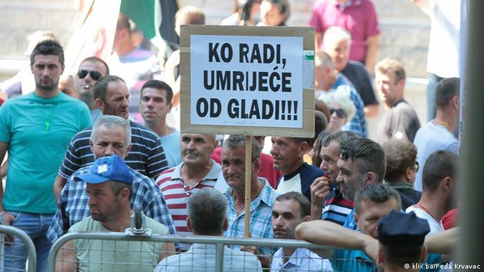 Bosnien und Herzegowina Protest der Arbeiter in Sarajevo