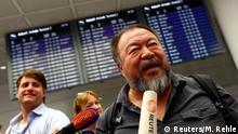 München Ankunft Ai Weiwei