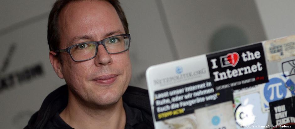 """O jornalista Markus Beckedahl, do """"Netzpolitik.org"""""""