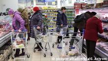 Russland Supermarkt Lebensmittel Importverbot Europa