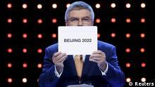 Malaysia Peking wird Gastgeber Winterspiele OL 2022 Thomas Bach