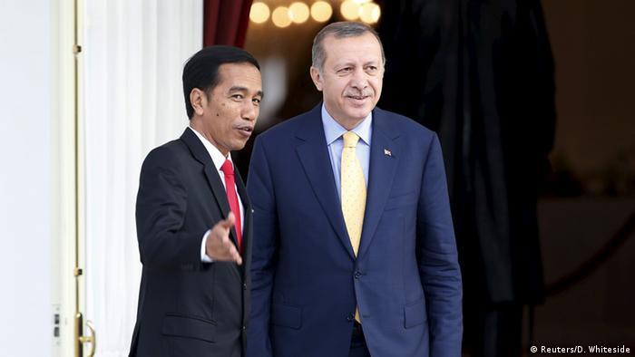 Jokowi dengan Presiden Turki Erdogan