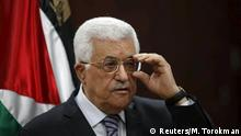 31.07.2015 **** Palestinian President Mahmoud Abbas speaks to journalists during a news conference in his headquarters in the West Bank city of Ramallah July 31, 2015. Suspected Jewish attackers torched a Palestinian home in the occupied West Bank on Friday, killing an 18-month-old toddler and seriously injuring three other family members, an act that Israel's prime minister described as terrorism. REUTERS/Mohamed Torokman