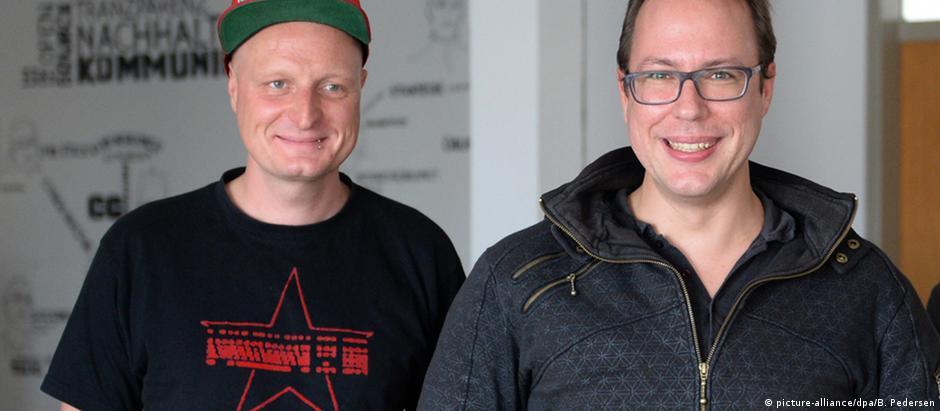 Markus Beckedahl e Andre Meister, do blog Netzpolitik
