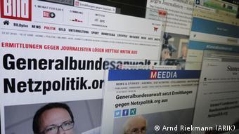 Reaktionen auf netzpolitik.org.Ermittlungen