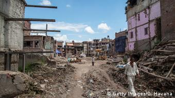 Devastation after the earthquake in Nepal