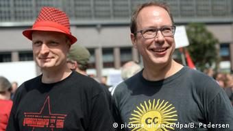 Блогеры Netzpolitik.org Андре Майстер и Маркус Бекедаль