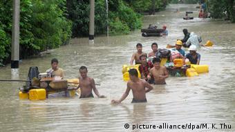 Myanmar Überschwemmungen