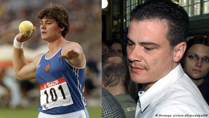 Bildcombo Doping Heidi Andreas Krieger (Montage: picture-alliance/dpa/DW)