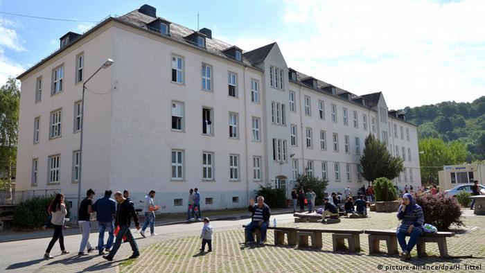 Центр первичного приема беженцев в немецком Трире