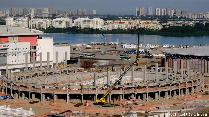The Velodrome for track cycling under construction at the Olympic Park in Rio de Janeiro, Brazil, on June 11, 2015. (Copyright:YASUYOSHI CHIBA/AFP/Getty Images)