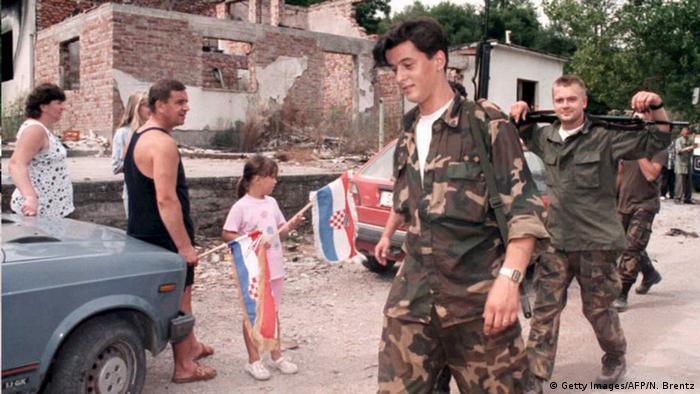 Croatian soldiers in the Krajina region in 1995