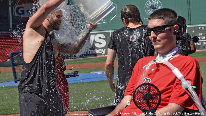 Mike Napoli Boston Ice Bucket Challenge 2015