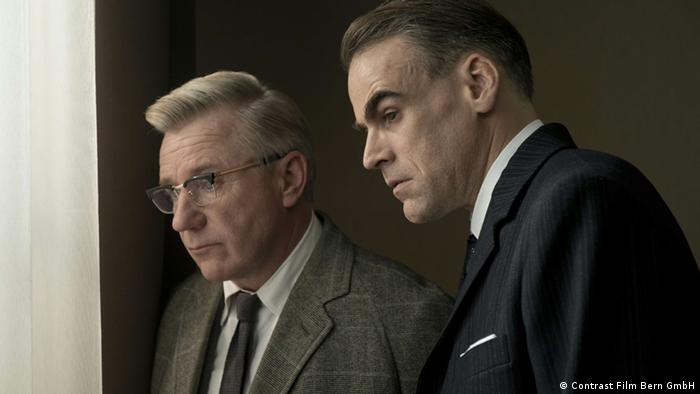 Jörg Schüttauf (l.) als BKA-Mitarbeiter Paul Gebhardt und Ronald Zehrfeld als Staatsanwalt Karl Angermann (Contrast Film)