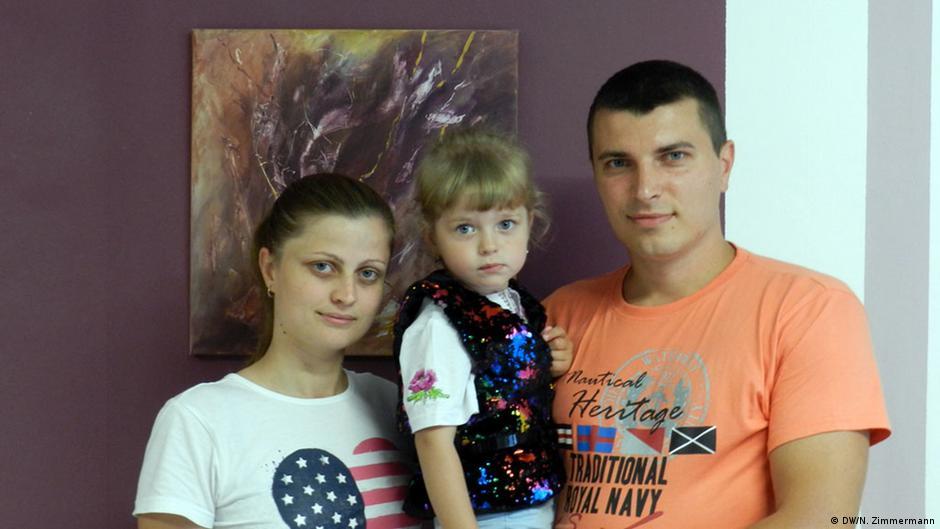 Виталий Балушинский с женой и дочерью