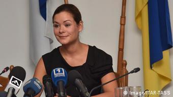 Мария Гайдар на пресс-конференции
