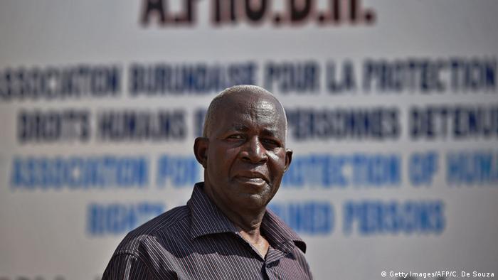 Burundi rights activist Pierre-Claver Mbonimpa