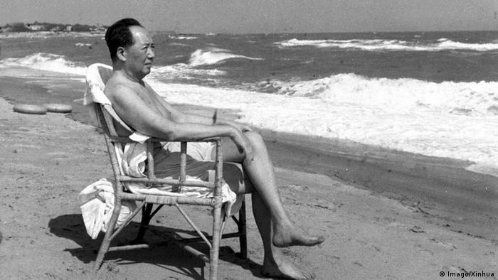 China Mao am Strand von Beidaihe