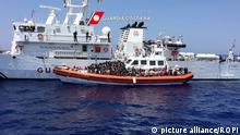 Italien Flüchtlingsboot vor Sizilien
