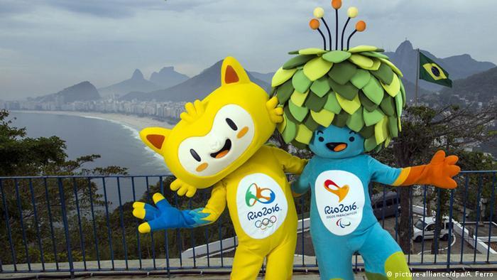 Brasilien Maskottchen der Olympischen Spiele in Rio de Janeiro 2016