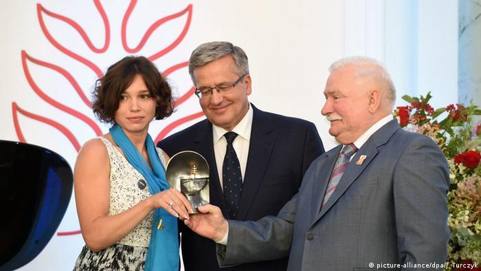 Zhanna Nemzowa Lech-Walesa-Solidaritätspreis 2015
