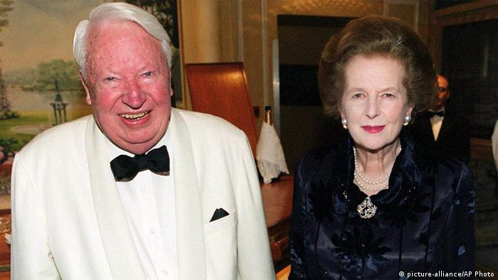 Großbritanniens Ex- Premierminister Edward Heath Thatcher (picture-alliance/AP Photo)
