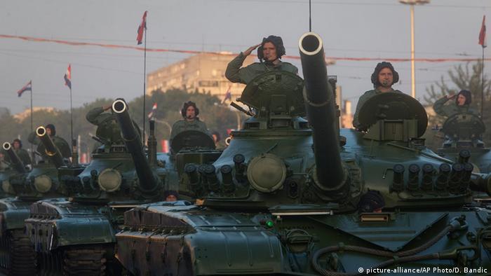 Kroatien Zagreb Parade Jahrestag Operation Storm