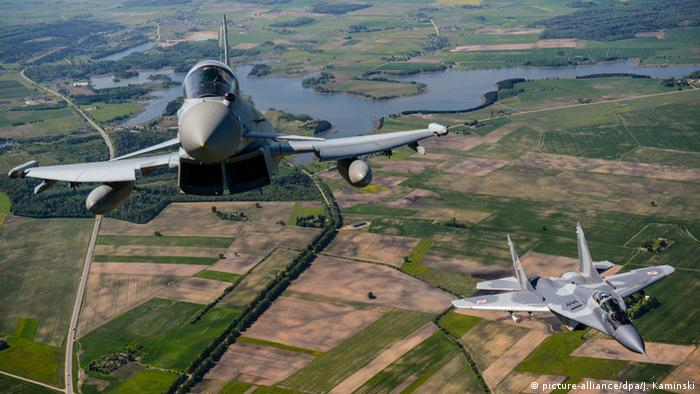 A NATO air patrol mission flies over the Baltics