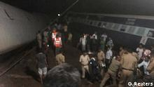 Police and members of the rescue operation stand at the site of a train derailment near Harda, Madhya Pradesh, in this handout provided by ANI on August 5, 2015. Two trains were derailed while they were crossing the Machak River, near Harda according local media. The number of casualties has yet to be known. REUTERS/ANI/Handout via Reuters ATTENTION EDITORS - NO ACCESS BBC. FOR EDITORIAL USE ONLY. NOT FOR SALE FOR MARKETING OR ADVERTISING CAMPAIGNS. THIS IMAGE HAS BEEN SUPPLIED BY A THIRD PARTY AND PROCESSED BY REUTERS TO ENHANCE QUALITY // eingestellt von se