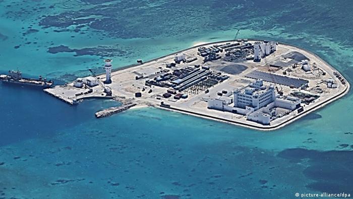 China Bauarbeiten auf Inselgruppe im Südchinesischen Meer
