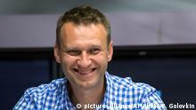 Russland Oppositionsführer Alexej Nawalny im Interview