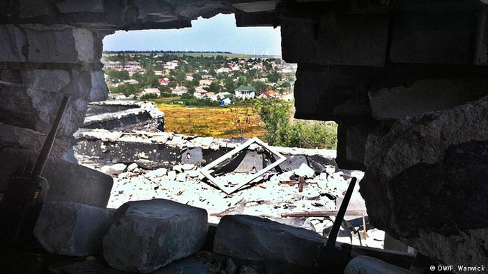 Ukraine No man's land Shyrokyne
